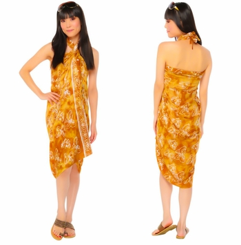 """Butterfly Sarong """"Tan / White"""""""