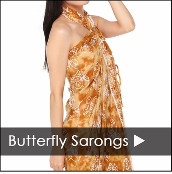 Butterfly Sarongs - 1 World Sarongs