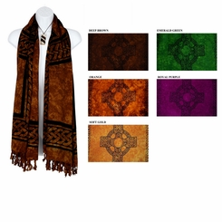 Celtic Cross Plus Size Scarf, Wrap or Shawl - in your choice of colors