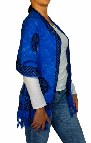 """Celtic Knot Sarong - Scarf """"Blue"""""""