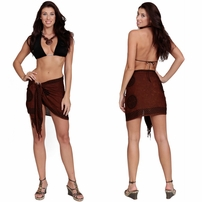 "Celtic Knot Sarong - Scarf ""Brown"""