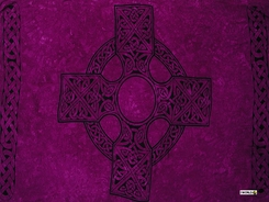 "Celtic Mens Sarong ""Celtic Cross 1"" Royal Purple"