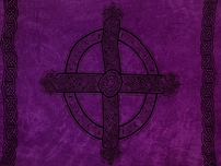 "Celtic Mens Sarong ""Celtic Cross 3"" Royal Purple"
