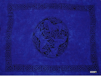 "Celtic Mens Sarong ""Horses"" Royal Blue"