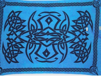 Celtic Mens Sarong in Blue