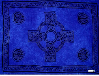 Celtic Mens Sarong in Celtic Cross 2 Royal Blue