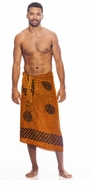 "Celtic Mens Sarong ""Interlace Knotwork"" Burnt Orange"