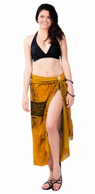 "Celtic Sarong ""Celtic Cross 3"" Gold"