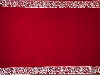 "Celtic Tribal Border Mens Sarong ""Deep Red"""