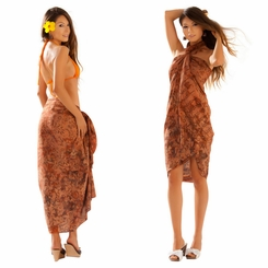 Dahlia Floral Sarong in Brown