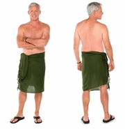 Dark Green Olive Mens Sarong