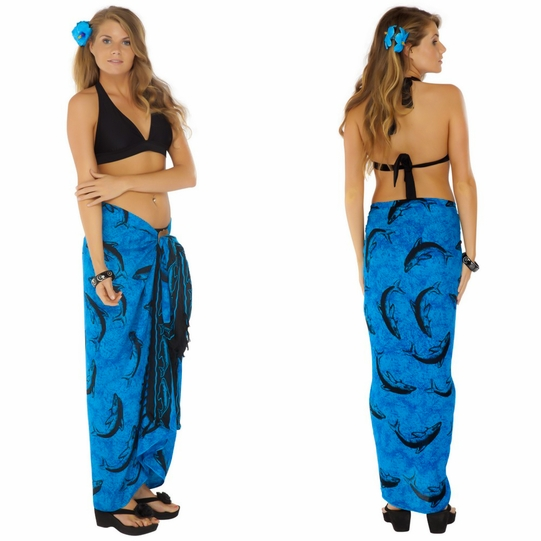 Dolphin Sarong Turquoise