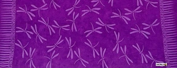 "Dragonflies Half Sarong ""Purple"""
