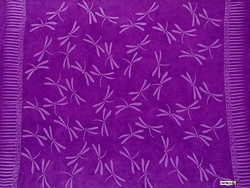 Dragonflies Top Quality Sarong in Purple