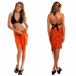 "Dragonfly Half Sarong/Mini Sarong ""Orange"""