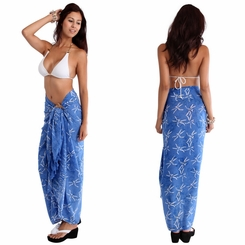 "Dragonfly Sarong ""Light Blue"""