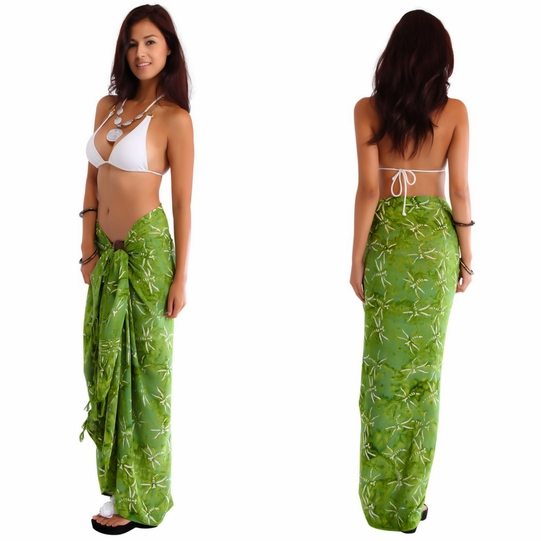 """Dragonfly Sarong """"Light Olive Green"""""""