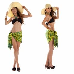 "Elephant Half Sarong ""Lemon / Lime"""