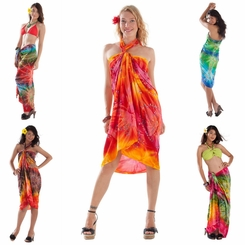 Embroidered Tie Dye Sarong Pot Luck
