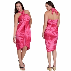 Embroidered Tie Dye Top Quality Sarong in Pink