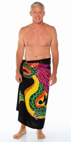 """Fire Dragon"" Mens Sarong"