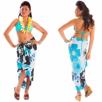 Floral Sarong in Turquosie