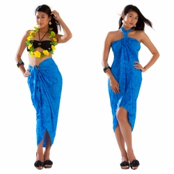 Gecko & Leaf Sarong in Blue