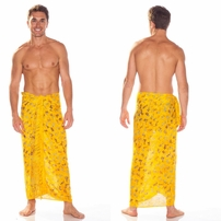 Gecko Mens Sarong in Gold