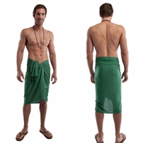 Green Solid Mens Sarong