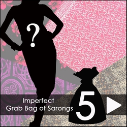 Group of 5 Imperfect Sarongs