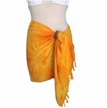 Half Sarong/Mini Sarong in Gold Smoked