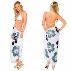 "Hawaiian Sarong ""Black / Gray / White"""