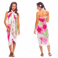 "Hawaiian Sarong ""Pink / Green / White"""