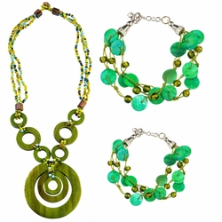 Jewelry Set in Green