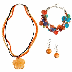 Jewelry Set in Orange