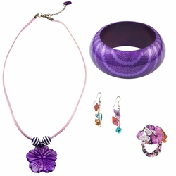 Jewelry Set in Purple