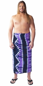 Jungle Purple PLUS SIZE Tie Dye Mens Sarong