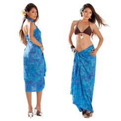 Leaf Sarong in Turquoise