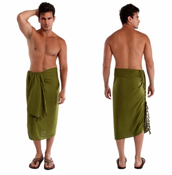 Light Green Olive Mens Sarong
