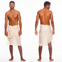 Light Mocha Color Mens Solid Sarong