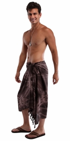 "Mens Sarong ""Brown / Light Brown"" Smoked"