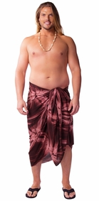 "Mens Sarong ""Brown"" Smoked PLUS SIZE"