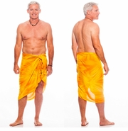 "Mens Sarong ""Gold"" Smoked"