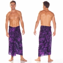 Mens Sarong in Purple Smoked