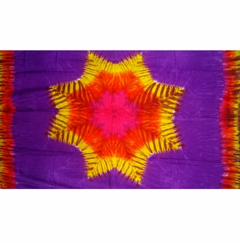 Mens Tie Dye Sarong with Star