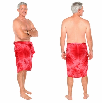 "Mens Sarong ""Red"" Smoked"
