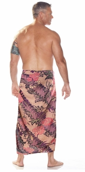 Mens Sarong With Traditional Motif Purple - Parang Rusak