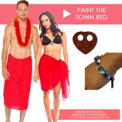 Paint the Town Red Sarong Set