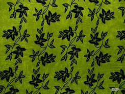"Passion Fruit Floral Sarong ""Lime Green and Black"""