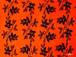 "Passion Fruit Floral Sarong ""Orange and Black"""